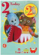Age 2 In The Night Garden Birthday Card - with badge